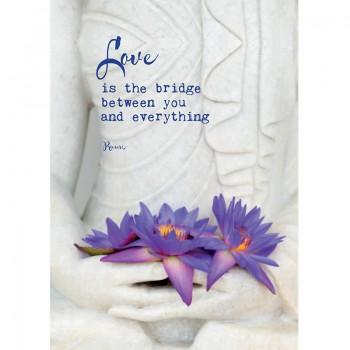 Briefkaart Love is the bridge