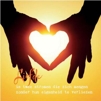 Wenskaart Liefde is twee stromen