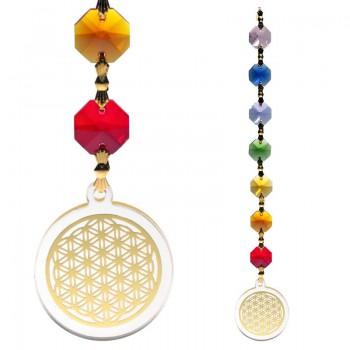 Feng Shui Flower of Life hanger goudkleurig