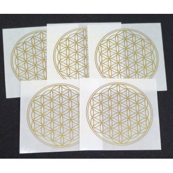 Flower of Life sticker - 5 cm - 5 stuks