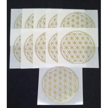 Flower of Life sticker - 5 cm - 10 stuks + 1 GRATIS