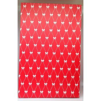 Rode Giftbag met witte strikjes